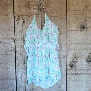 O'Neill Green Print Dress